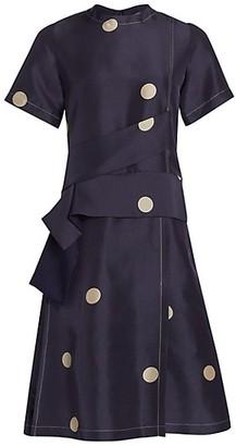 3.1 Phillip Lim Dot-Print Cross Strap Dress