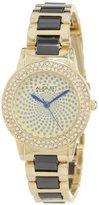 August Steiner Women's AS8052YG Crystal Glitz Ceramic Link Bracelet Watch