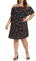 Vince Camuto Plus Size Women's Off The Shoulder Floral Shift Dress