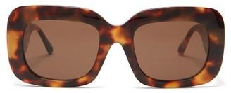 Linda Farrow Lavinia Tortoiseshell-acetate Sunglasses - Tortoiseshell