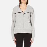 UGG Women's Pauline Double Knit Fleece Cowl Neck Zip Through Jacket Seal Heather