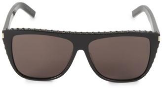 Saint Laurent 1-025 59MM Squared Aviator Sunglasses