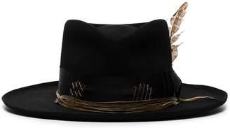 Nick Fouquet feather detail fedora hat