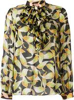 No.21 ruffle detail blouse