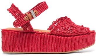 Clergerie Aimie crochet wedge sandals