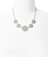 Carole Crystal & Silvertone Floral Statement Necklace