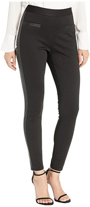 BCBGeneration Side Contrast High-Waisted Leggings (Black) Women's Casual Pants