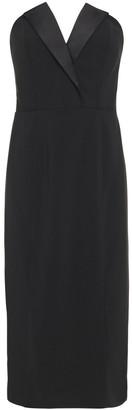 Jay Godfrey Strapless Satin-trimmed Crepe Mini Dress