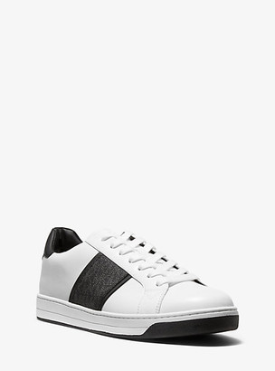 Michael Kors Tyler Leather and Logo Sneaker