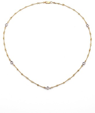 Roberto Coin Diamond & 18K Yellow Gold Station Necklace/16""