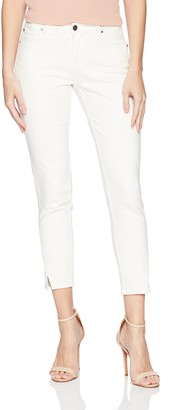 EVIDNT Women's Tate Skinny MID Rise Cropped Denim Jean