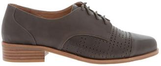 Zazou Diana Olive Leather Flat