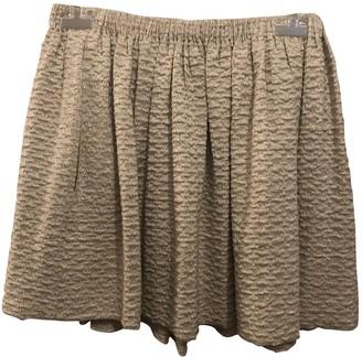 Maje Beige Cotton Skirt for Women