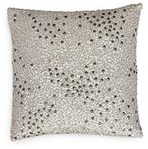 Donna Karan Reflection Silver Sequin Decorative Pillow, 12 x 12