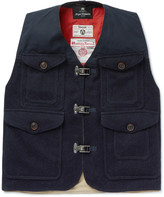 Nigel Cabourn - Cameraman Converse Waxed Harris Wool-tweed Gilet