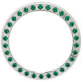 Diamonique Simulated Gemstone Watch Bezel, Silvertone