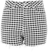 Topshop MOTO High Rise Gingham Shorts