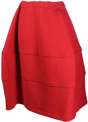 Comme des Garcons Chunky Tiered A-Line Skirt