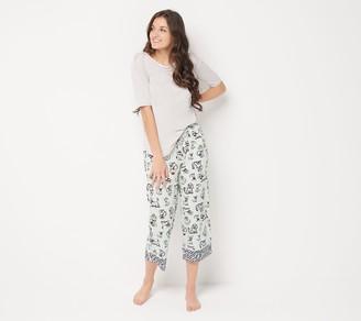 Cuddl Duds Cool & Airy Printed Cropped Pant Pajama Set
