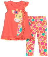 Kids Headquarters 2-Pc. Giraffe Tunic & Capri Leggings Set, Little Girls