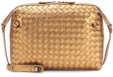 Bottega Veneta Intrecciato metallic leather shoulder bag