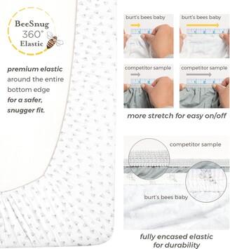 Burt's Bees Watercolor Hello Moon! Organic Cotton BEESNUG Fitted Crib Sheet