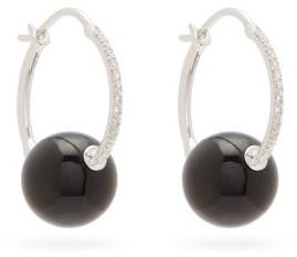 Raphaele Canot Diamond, Onyx & 18kt White-gold Hoop Earrings - Black Multi