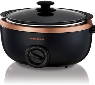 Morphy Richards Sear & Stew Slow Cooker Rose Gold 6.5L