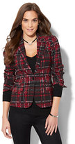 New York & Co. 7th Avenue Jacket - One-Button - Tweed Print