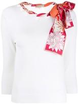 Emilio Pucci silk scarf embellished shirt