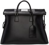 Maison Margiela Black Leather Duffle Bag