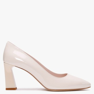 Nicola Sexton Alabama Beige Patent Leather Court Shoes