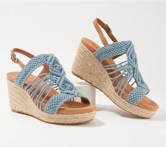 Zodiac Crocheted Slingback Wedges - Palm