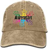 Therine Autism Awareness Adult Denim Dad Solid Baseball Cap Hat