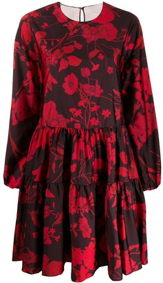 Valentino Overdyed Crepe De Chine Dress