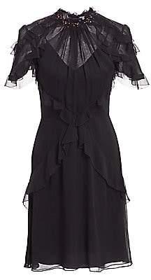 Jason Wu Collection Women's Embellished Ruffle Silk Chiffon Dress