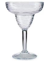 Martha Stewart Collection Textured Acrylic Margarita Glass