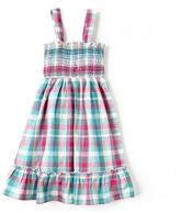 Cherokee Girl's Smocked Sleeveless Dress