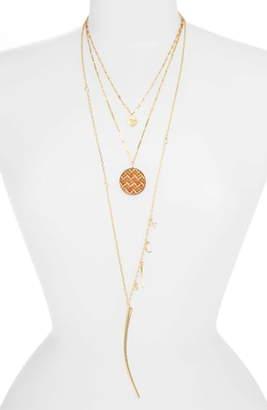Ettika Boho Set of 3 Pendant Necklaces