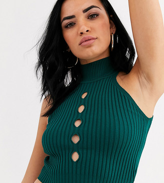 Rokoko knitted crop top with cut out detail