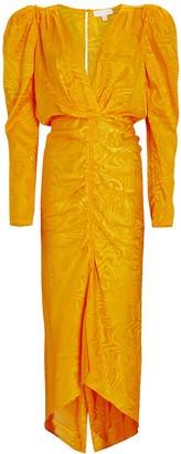 Ronny Kobo Astrid Moire Satin Dress