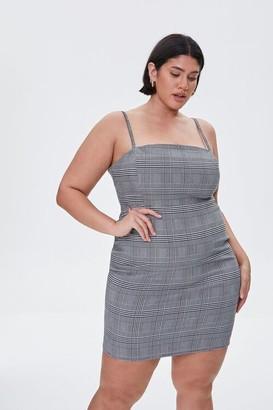 Forever 21 Plus Size Plaid Cami Mini Dress