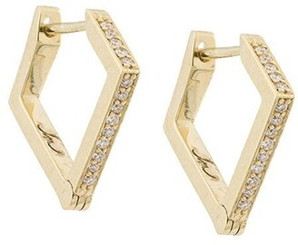 Lizzie Mandler Fine Jewelry 18kt gold 'Huggies' diamond earrings