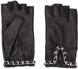 Manokhi Chain Embellished Fingerless Gloves