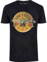 River Island MensBlack Guns N' Roses band T-shirt