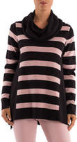 Ping Pong Cowl Neck Stripe Panel Pullover