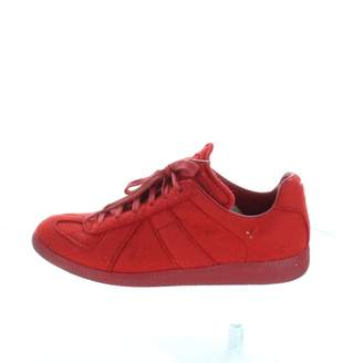 Maison Margiela Red Suede Trainers