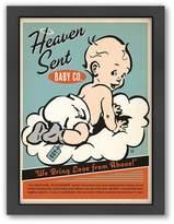 "Americanflat ""Heaven Sent"" Baby Boy Framed Wall Art"