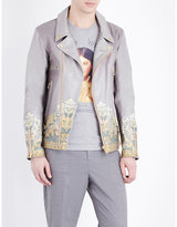 Undercover Baroque-print Leather Jacket