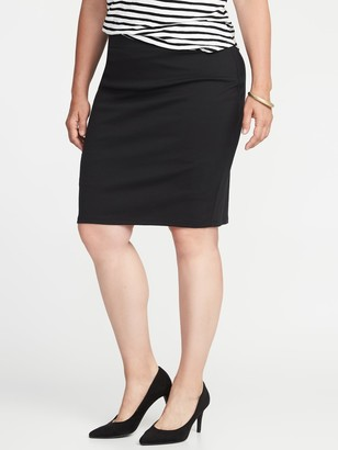 Old Navy Secret-Slim Ponte-Knit Plus-Size Pencil Skirt